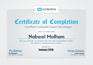 Codeable Certification